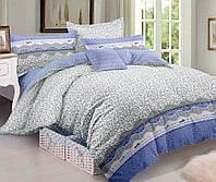 Сатиновое постельное бельё (10615) двуспальное евро 200*220 хлопок, фото 1