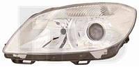 Фара передняя для Skoda Fabia II '10- правая (DEPO) линзованная под электрокорректор