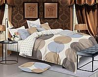 Сатиновое постельное бельё (12240) двуспальное евро 200*220 хлопок, фото 1