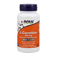 L-Carnitine 250 mg purest form (60 caps) NOW