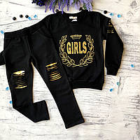 Костюм черный на девочку Breeze 76. Размер 116 см (6 лет),  134 см, фото 1