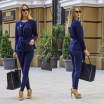 """Деловой брючный женский костюм """"Duffield"""" с блузой (3 цвета), фото 2"""