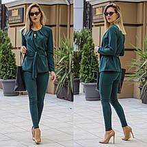 """Деловой брючный женский костюм """"Duffield"""" с блузой (3 цвета), фото 3"""