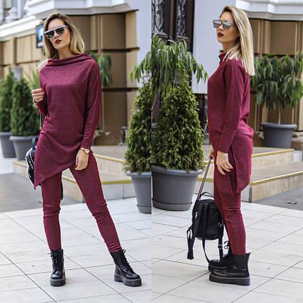 """Женский трикотажный костюм """"MILON"""" с асимметричной туникой (3 цвета), фото 2"""