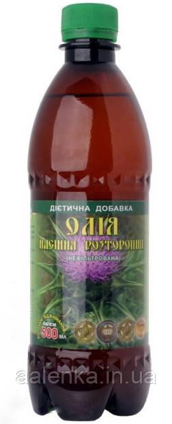 Натуральное Масло семян расторопши холодного отжима, нерафинированное, 500мл, Мирослав