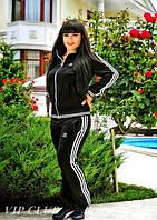 Жеский спортивный костюм Адидас №729 большие размеры