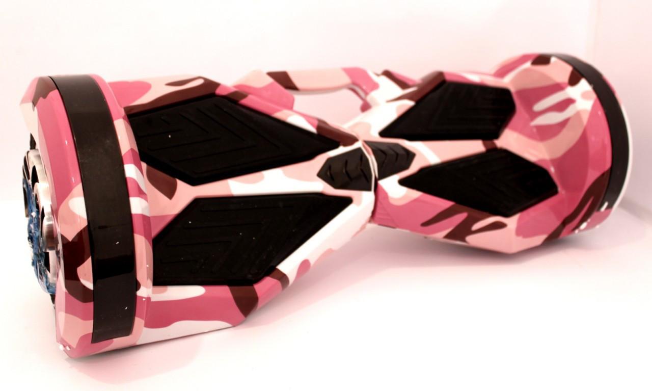"""Гироскутер Smart Balance 8"""" с ручкой для переноски розовый камуфляж"""