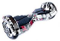 """Гироскутер Smart Balance Transformers8"""" колеса черепа черные"""