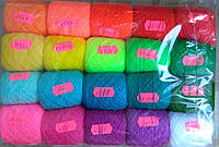 Акриловая нитка для вышивания, набор яркие цвета
