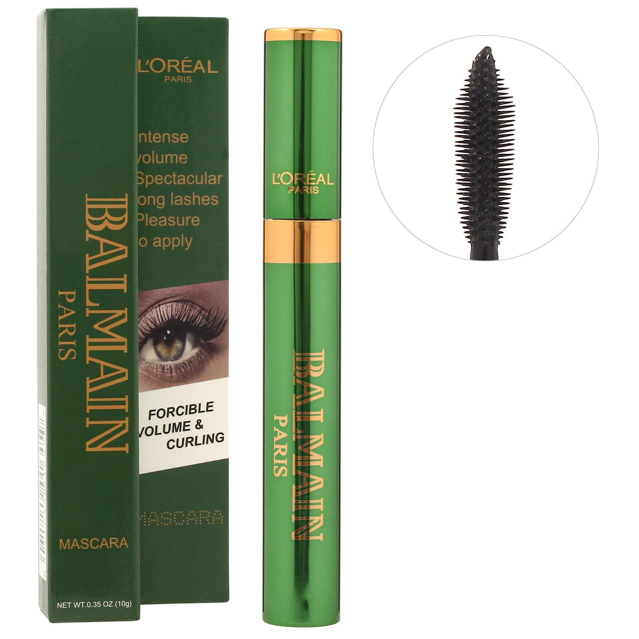 Тушь для ресниц L'Oreal Balmain Mascara Intense Volume green