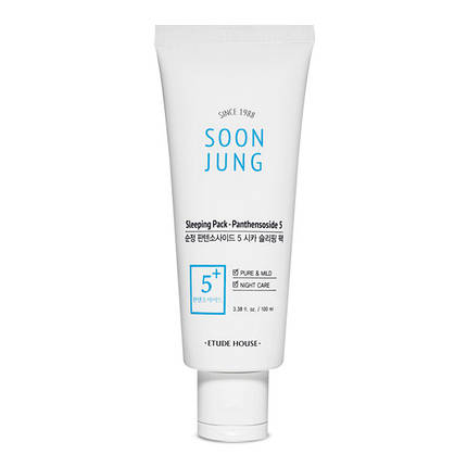 Увлажняющая и успокаивающая ночная маска Etude House Soon Jung Sleeping Pack – Panthensoside 5, 100 мл, фото 2