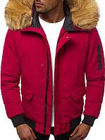 Куртка мужская зимняя, красного цвета. Куртка чоловіча зимова.ТОП КАЧЕСТВО!!!