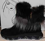 Ботинки женские замшевые зимние с натуральным мехом на толстой подошве от производителя модель УН518-1, фото 3