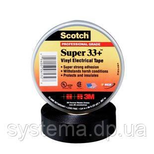 3M Scotch Super 33+ - Изоляционная лента высшего класса 19,0х0,18, рулон 6 м, черный