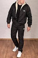 Утепленный зимний мужской костюм The North Face на овчине топ реплика