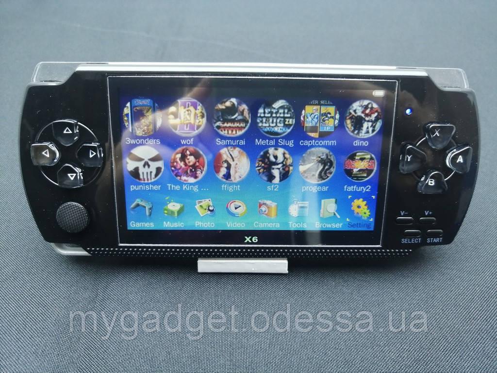 Игровая приставка Sony PSP Х6 Черный Встроенно 9999 ИГР!!!