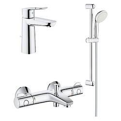 Набор смесителей для ванны Grohe GRT800+BauLoop 34550TM (23762000+34567000+27598001)
