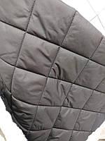 Стеганная ткань плащевка для пошива верхней одежды куртки жилетки ширина 150 см ромб цвет черный