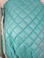 Стеганная ткань плащевка для пошива верхней одежды куртки жилетки ширина 150 см ромб цвет голубой