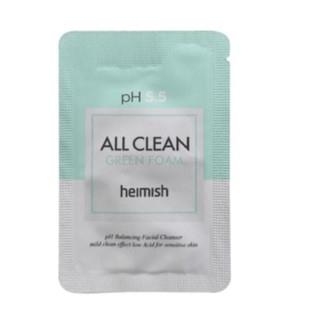 Пенка для умывания с pH 5.5 Heimish All Clean Green Foam, 2 мл