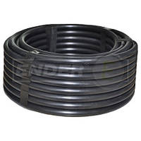 Трубка цилиндрическая для капельного полива диаметр 16 мм, 0.9 мм, 33 см между капельницами. Бухта 100 метров.