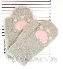 Детские ангоровые варежки на меху - длина 16 см, фото 3