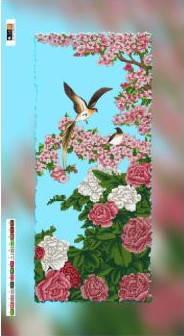 """Схема для вышивки бисером на подрамнике (холст) """"Розы и сакура"""", фото 2"""