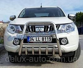 Защита переднего бампера кенгурятник высокий на Митсубиси л200 2015+ Кенгур передний высокий Mitsubishi L200