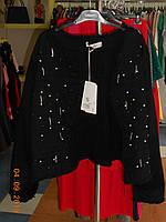 Джинсовая стильная черная  куртка 60- 62 размера Selly, фото 1
