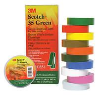 3M Scotch 35 - Цветная изоляционная лента высшего класса 19,0х0,18 мм, рулон 20 м, зеленый