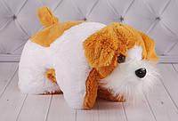 """Детская мягкая подушка-складушка собачка """"Мупсик"""", плюшевая подушка, фото 1"""