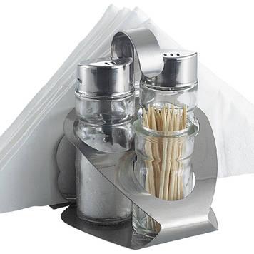 Набір для спецій Maestro MR-1611 C сіль+перець+серветки+зубочистки
