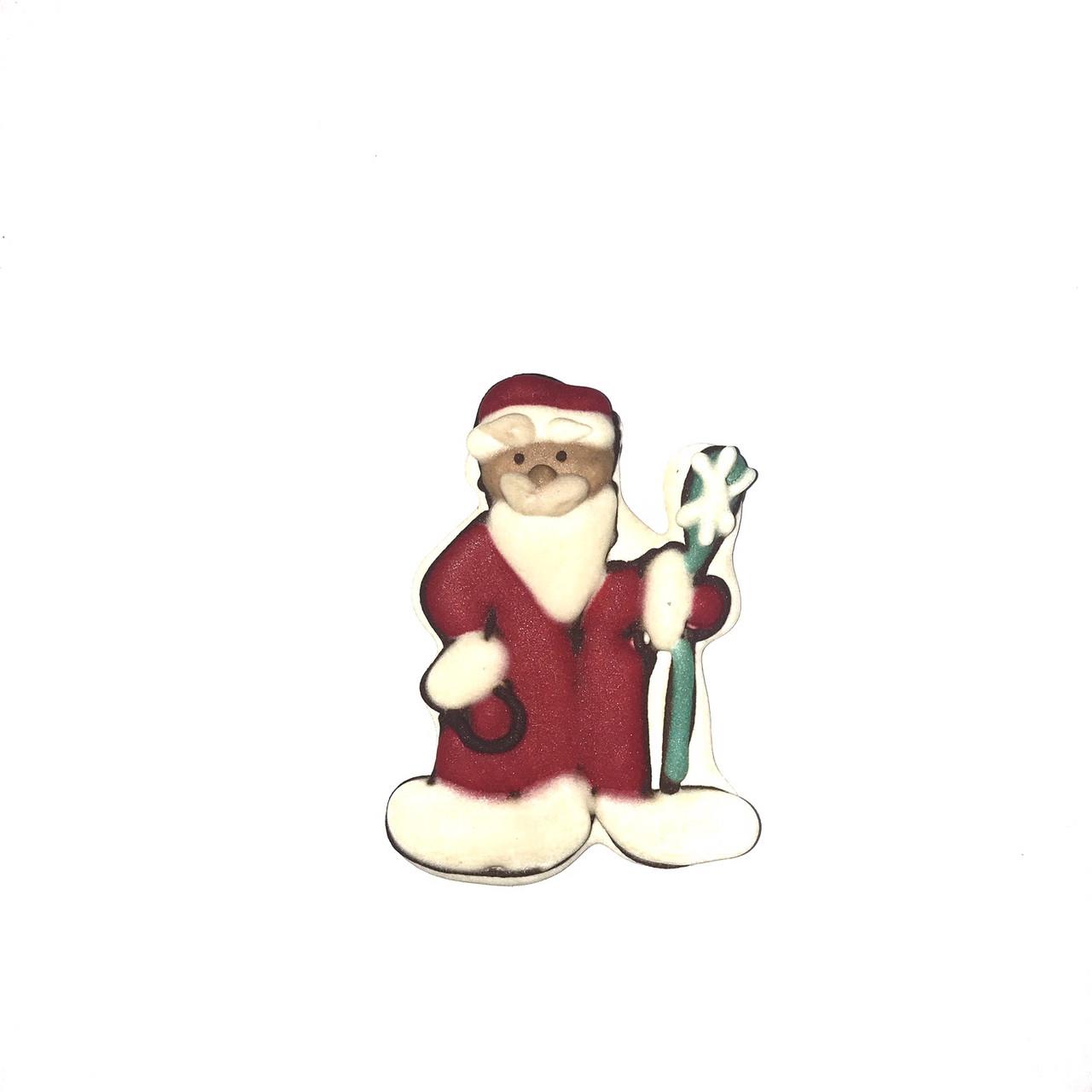"""Сахарное украшение мини """"Дед Мороз"""""""