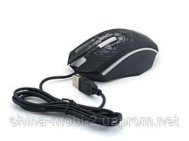 Pioneer XG73 мышка компьютерная проводная с подсветкой, черная, фото 3