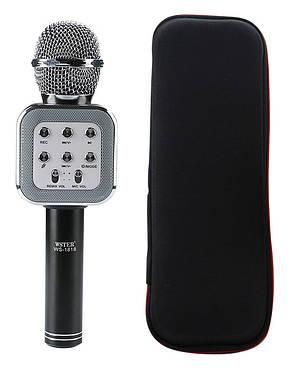 Микрофон-колонка bluetooth WS-1818 Black + Чехол, фото 2