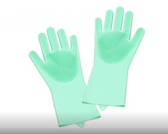 Силиконовые перчатки для мытья посуды top-762, фото 2