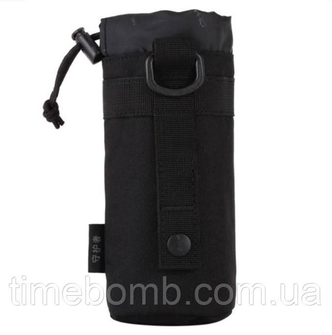 Армейский чехол для бутылки черный