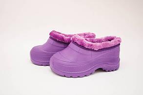 Галоши детские меховые (Код: Гп-13мех фиолет )