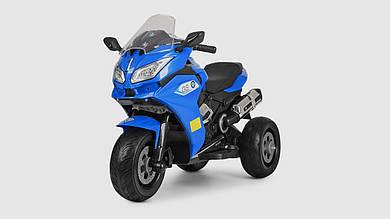 Электромобиль мотоцикл BAMBI.M3688EL-4.Свет.Музыка.Кожанное сиденье.Синий