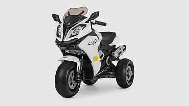 Электромобиль мотоцикл BAMBI.M3913EL-1.Свет.Музыка.Кожанное сиденье.Белый