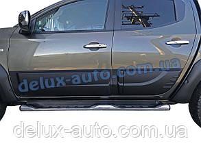 Накладки на двери на Mitsubishi L200 2015-2019 Молдинги на двери для Митсубиси л200 2015-2019