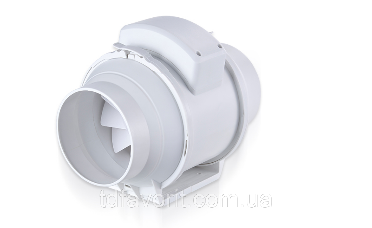 Канальний пластиковий вентилятор ПВК 100