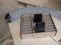Подставка -органайзер для телефонов/аксессуаров/приправ и т д 24 отсека для школ с нумерацией