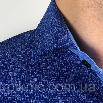 Рубашка мужская S,M,XXL длинный рукав. Турция. Молодежная турецкая рубашка трансформер. Синий, фото 2