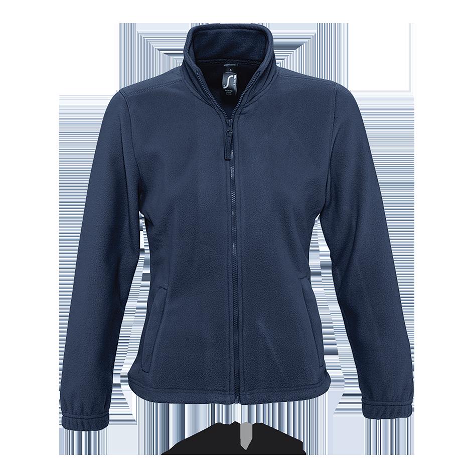 Женская флисовая куртка NORTH WOMEN, т.синий, SOLS, размеры от S до XXL
