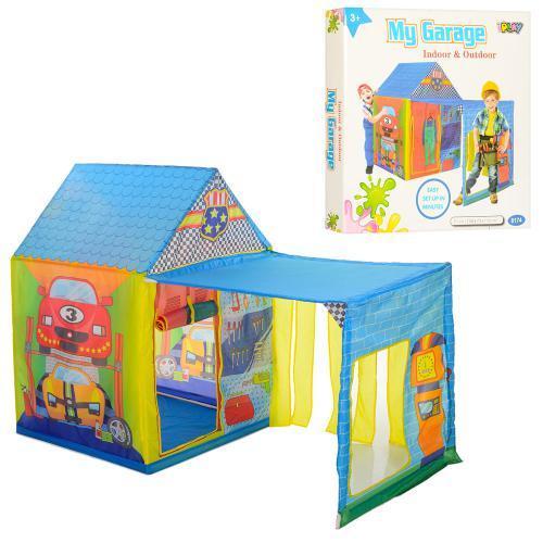 Детская палатка Домик с гаражом M 5685