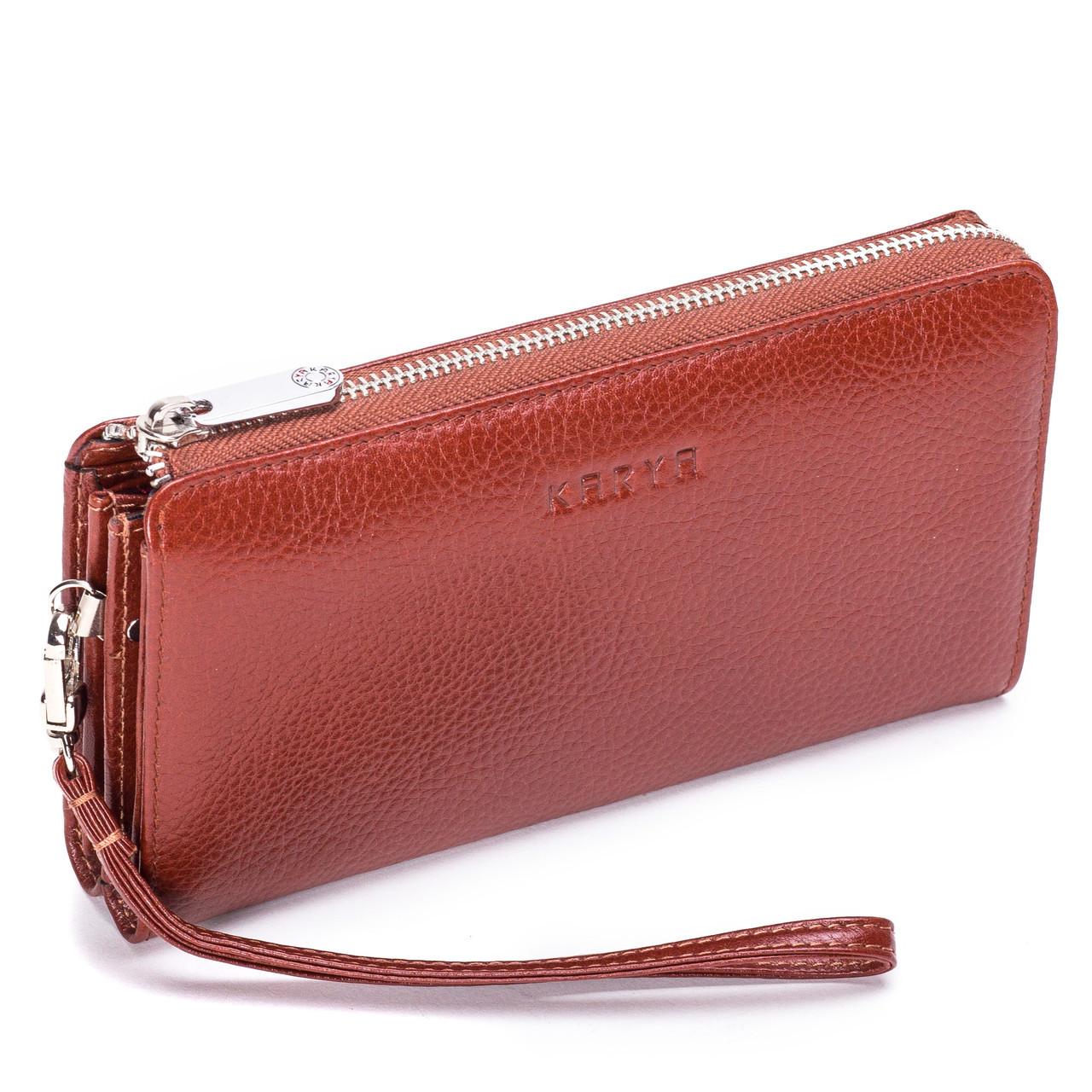 Клатч-кошелек Karya 0701-9 мужской кожаный коричневый