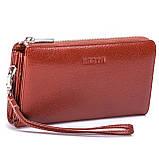 Клатч-кошелек Karya 0701-9 мужской кожаный коричневый, фото 2