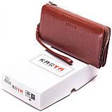 Клатч-кошелек Karya 0701-9 мужской кожаный коричневый, фото 7