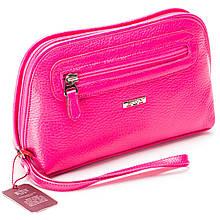 Женская косметичка розовая из натуральной кожи Butun 665-004-018